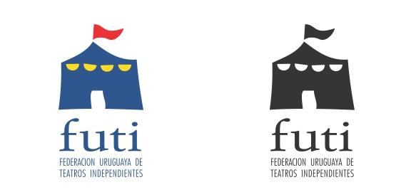 Logotipo para los %= años de Futi (Federación Uruguaya de Teatros Independientes)