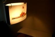Lámpara colgante lado B.