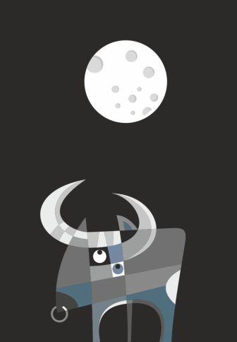 Toro y luna