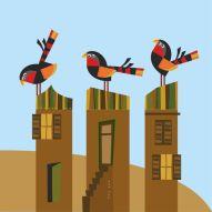 Tres pájaros, tres techos